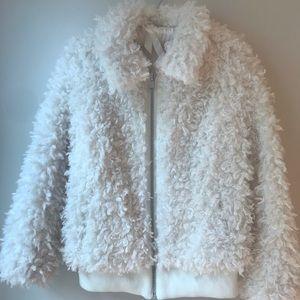H&M faux fur teddy coat